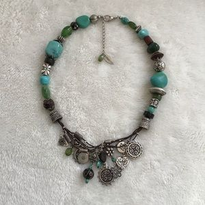 Coldwater Creek Multiple Charm Bead Necklace